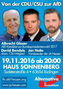 Von der CDU/CSU zur AfD